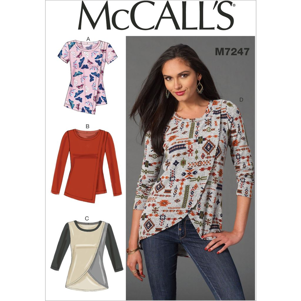 McCall's Pattern M7247 Misses Tops 7247 Image 1 From Patternsandplains.com