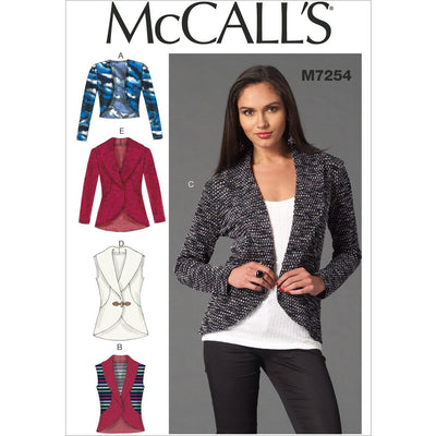 McCall's Pattern M7254 Misses Cardigans 7254 Image 1 From Patternsandplains.com