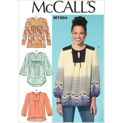 McCall's Pattern M7284 Misses Tops 7284 Image 1 From Patternsandplains.com