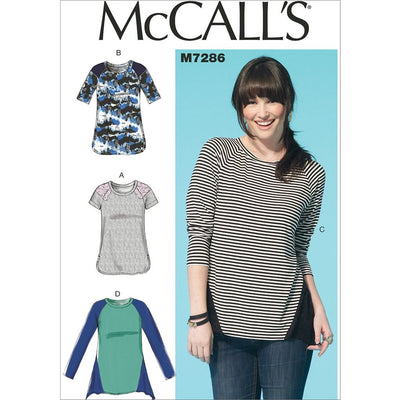 McCall's Pattern M7286 Misses Tops 7286 Image 1 From Patternsandplains.com