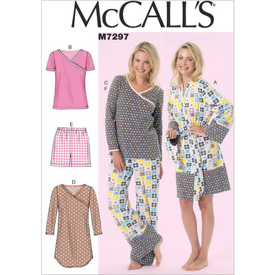 McCall's Pattern M7297 Misses Womens Robe Belt Tops Dress Shorts and Pants 7297 Image 1 From Patternsandplains.com