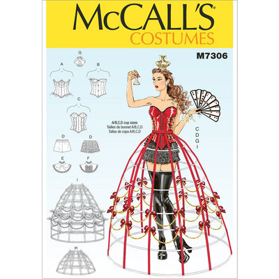 McCall's Pattern M7306 Corsets Shorts Collars Hoop Skirts and Crown 7306 Image 1 From Patternsandplains.com