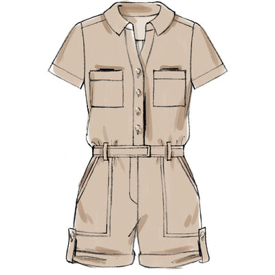 McCall's Pattern M7330 Misses Button Up Rompers and Jumpsuits 7330 Image 3 From Patternsandplains.com.jpg
