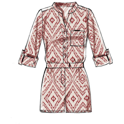 McCall's Pattern M7330 Misses Button Up Rompers and Jumpsuits 7330 Image 5 From Patternsandplains.com.jpg