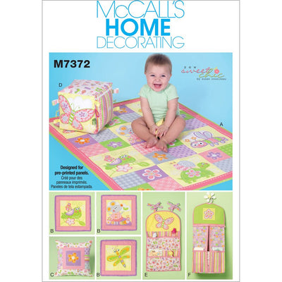 McCall's Pattern M7372 Nursery Blanket Pillow and Organization Accessories 7372 Image 1 From Patternsandplains.com