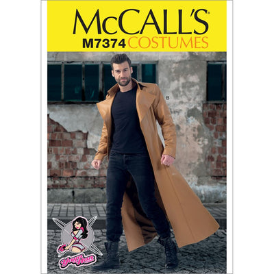 McCall's Pattern M7374 Collared and Seamed Coats 7374 Image 1 From Patternsandplains.com