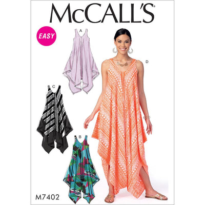 McCall's Pattern M7402 Misses Dresses and Jumpsuit 7402 Image 1 From Patternsandplains.com