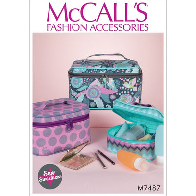 McCall's Pattern M7487 Travel Cases in Three Sizes 7487 Image 1 From Patternsandplains.com