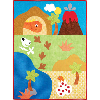 McCall's Pattern M7553 Dinosaur Plush Toys and Appliqu and eacute;d Quilt 7553 Image 2 From Patternsandplains.com.jpg
