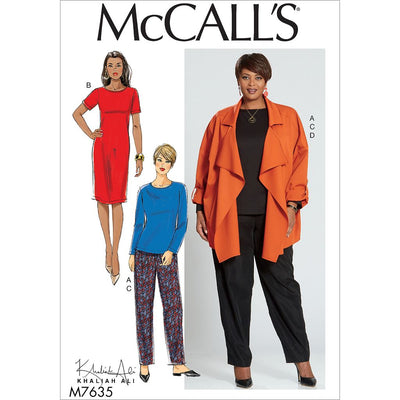McCall's Pattern M7635 Misses Womens Top Dress Pants and Jacket 7635 Image 1 From Patternsandplains.com