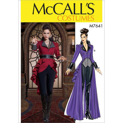 McCall's Pattern M7641 Misses Jacket Costume with Belt 7641 Image 1 From Patternsandplains.com
