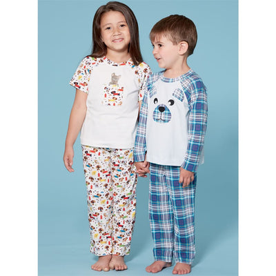 McCall's Pattern M7678 Childrens Boys Girls Animal Themed Tops and Pants 7678 Image 2 From Patternsandplains.com.jpg