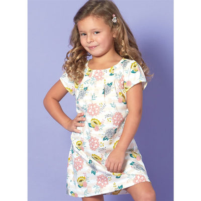 McCall's Pattern M7709 Children Girls Tops Dresses and Leggings 7709 Image 9 From Patternsandplains.com.jpg
