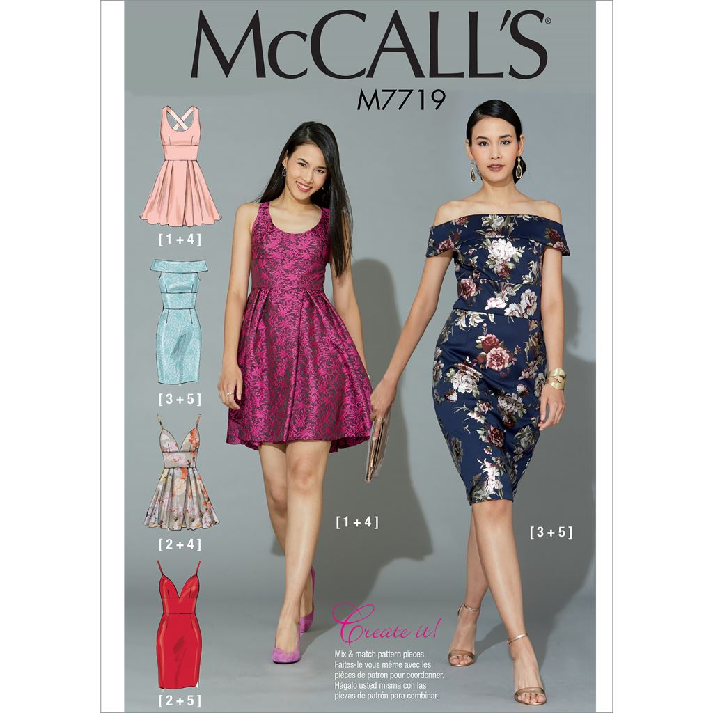 McCall's Pattern M7719 Misses Dresses 7719 Image 1 From Patternsandplains.com