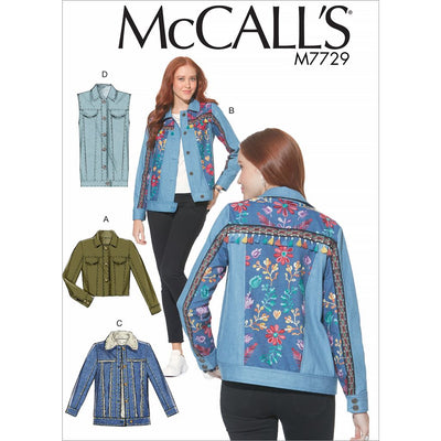 McCall's Pattern M7729 Misses Jackets and Vest 7729 Image 1 From Patternsandplains.com