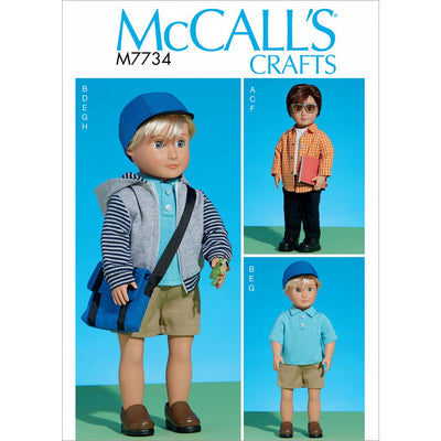 McCall's Pattern M7734 Clothes For 18 Doll 7734 Image 1 From Patternsandplains.com