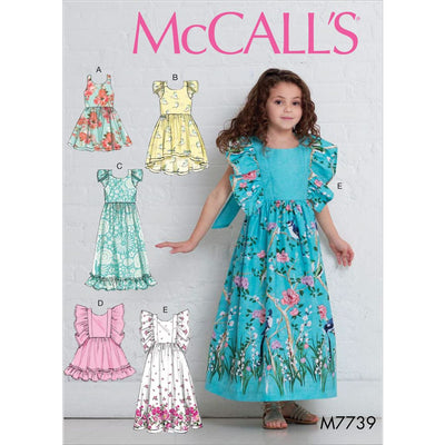 McCall's Pattern M7739 Childrens Girls Dresses 7739 Image 1 From Patternsandplains.com