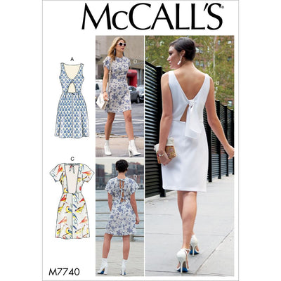 McCall's Pattern M7740 Misses Dresses 7740 Image 1 From Patternsandplains.com