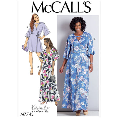 McCall's Pattern M7743 Misses Womens Dresses 7743 Image 1 From Patternsandplains.com