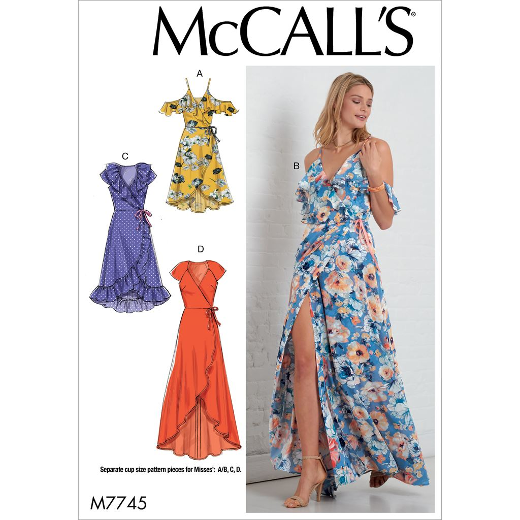 McCall's Pattern M7745 Misses Dresses 7745 Image 1 From Patternsandplains.com