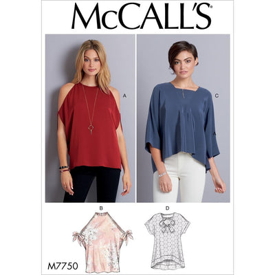 McCall's Pattern M7750 Misses Tops 7750 Image 1 From Patternsandplains.com