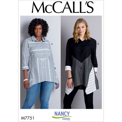 McCall's Pattern M7751 Misses Shirts 7751 Image 1 From Patternsandplains.com