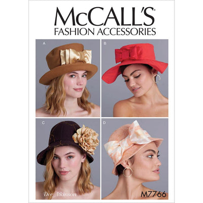 McCall's Pattern M7766 Misses Hats 7766 Image 1 From Patternsandplains.com