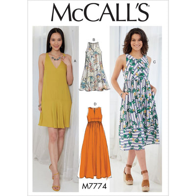 McCall's Pattern M7774 Misses Dresses 7774 Image 1 From Patternsandplains.com