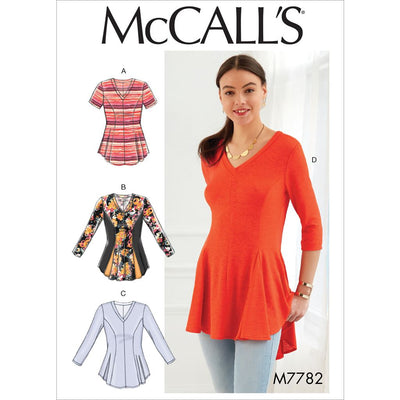 McCall's Pattern M7782 Misses Womens Tops 7782 Image 1 From Patternsandplains.com