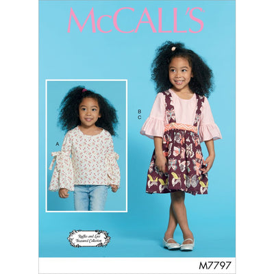 McCall's Pattern M7797 Childrens Girls Tops and Skirt 7797 Image 1 From Patternsandplains.com