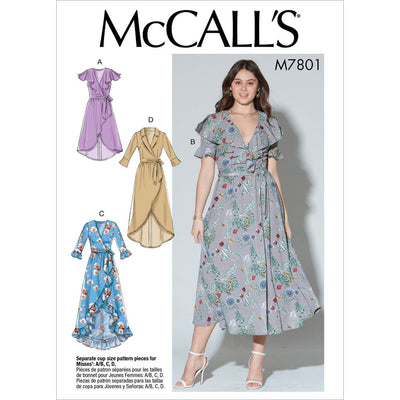 McCall's Pattern M7801 Misses Dresses and Belt 7801 Image 1 From Patternsandplains.com