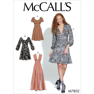 McCall's Pattern M7802 Misses Dresses 7802 Image 1 From Patternsandplains.com