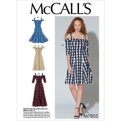 McCall's Pattern M7805 Misses Dresses 7805 Image 1 From Patternsandplains.com