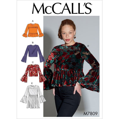McCall's Pattern M7809 Misses Tops 7809 Image 1 From Patternsandplains.com