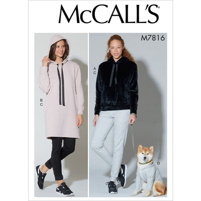 McCall's Pattern M7816 Misses Top Dress Pants and Dog Coat 7816 Image 1 From Patternsandplains.com