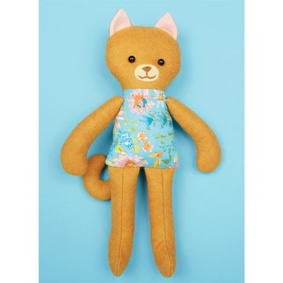 McCall's Pattern M7819 Soft Toy Animals 7819 Image 2 From Patternsandplains.com