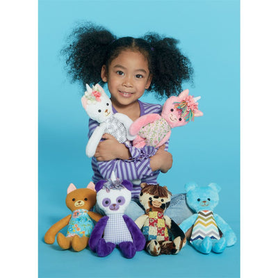 McCall's Pattern M7819 Soft Toy Animals 7819 Image 3 From Patternsandplains.com