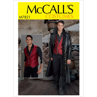 McCall's Pattern M7821 Mens Costume 7821 Image 1 From Patternsandplains.com