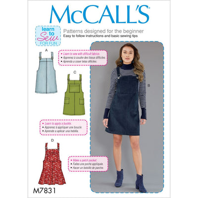 McCall's Pattern M7831 Misses Jumpers 7831 Image 1 From Patternsandplains.com