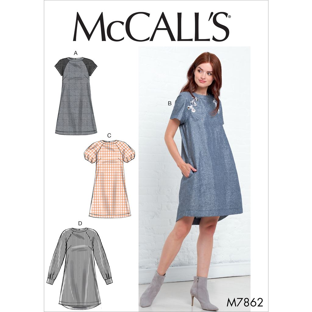McCall's Pattern M7862 Misses Dresses 7862 Image 1 From Patternsandplains.com