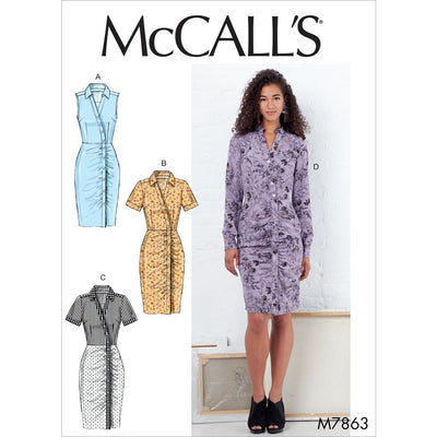 McCall's Pattern M7863 Misses Dresses 7863 Image 1 From Patternsandplains.com