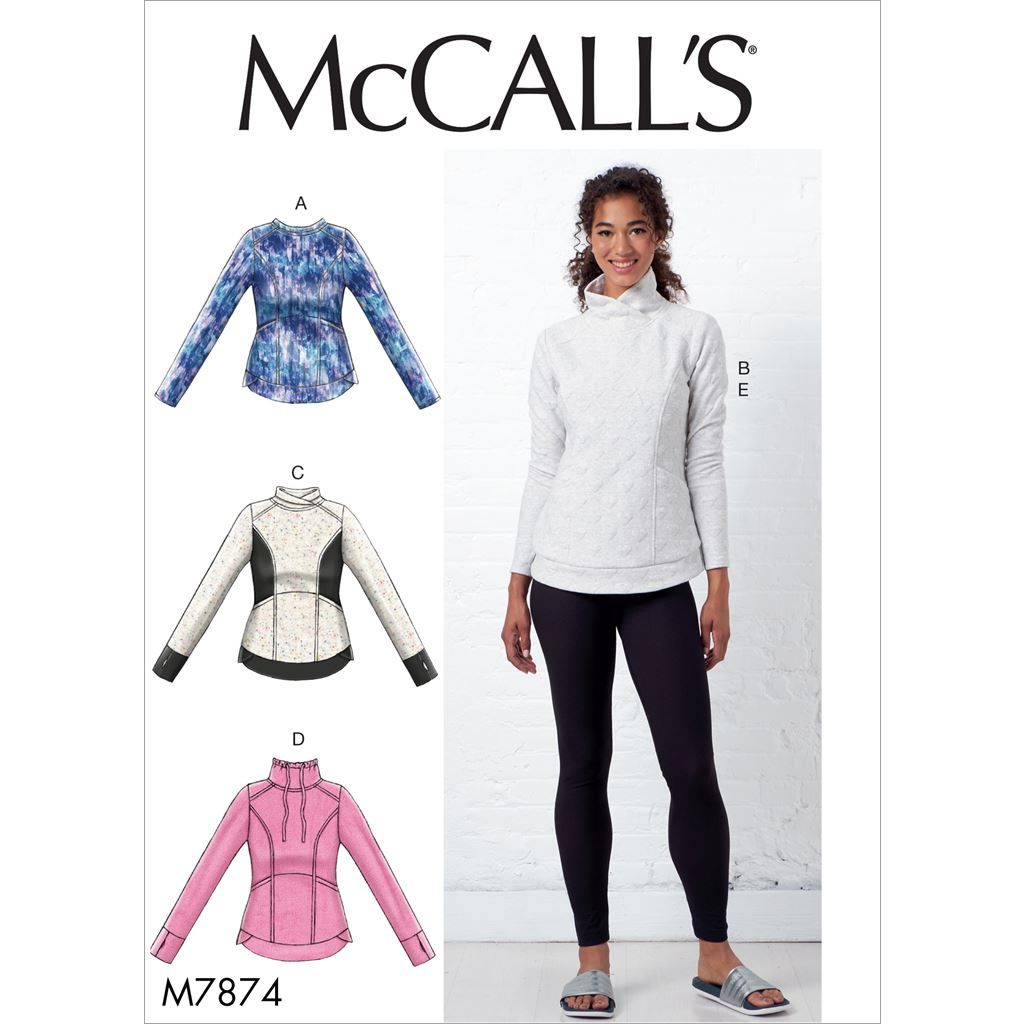 McCall's Pattern M7874 Misses Tops and Leggings 7874 Image 1 From Patternsandplains.com