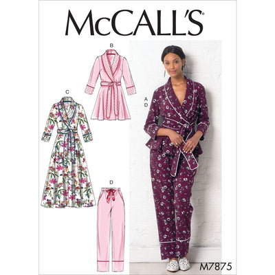 McCall's Pattern M7875 Misses Jacket Robe Pants and Belt 7875 Image 1 From Patternsandplains.com