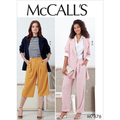 McCall's Pattern M7876 Misses Jackets and Pants 7876 Image 1 From Patternsandplains.com