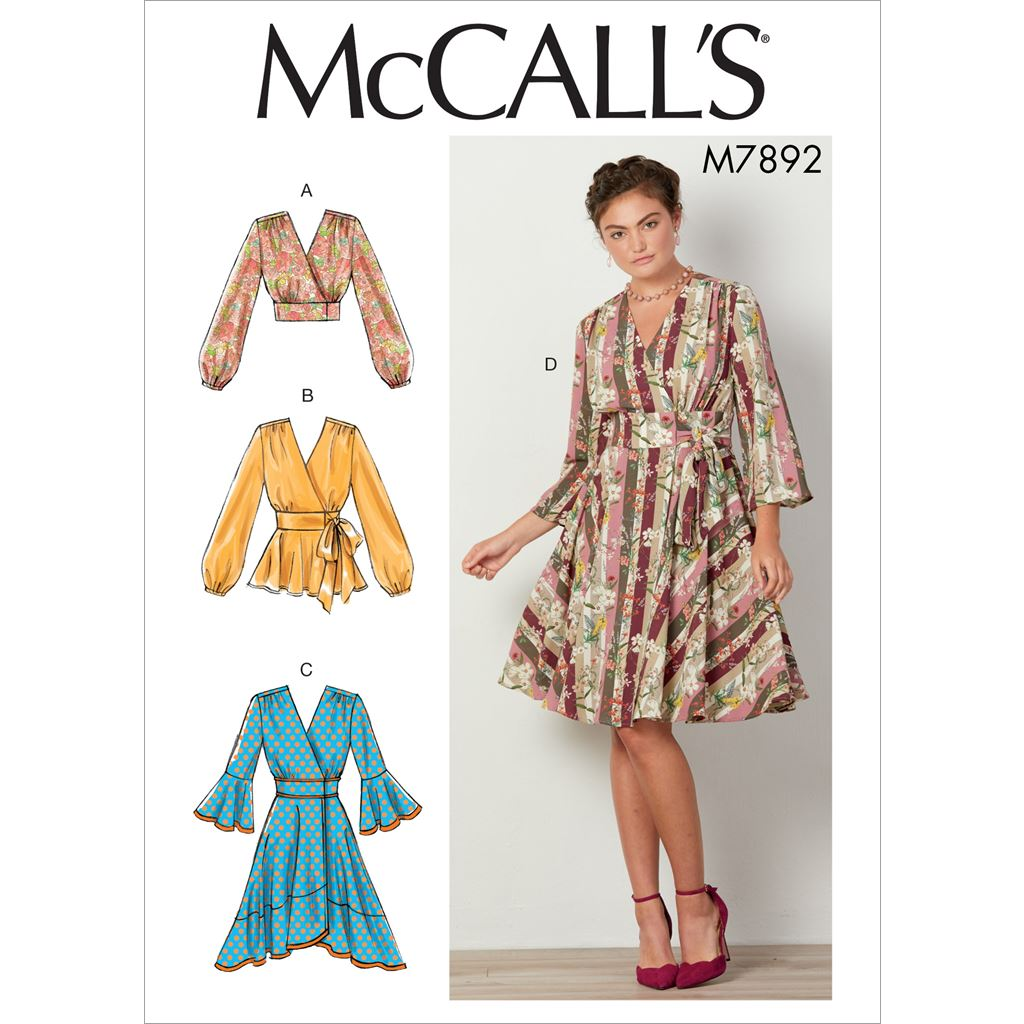 McCall's Pattern M7892 Misses Tops and Dresses 7892 Image 1 From Patternsandplains.com