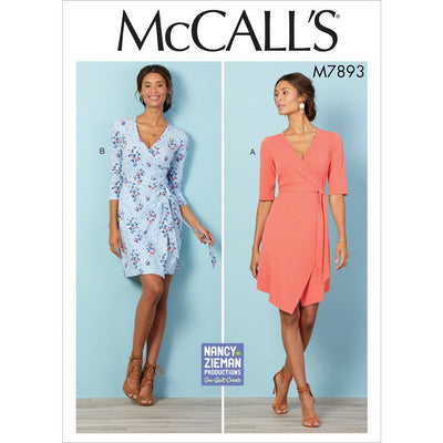 McCall's Pattern M7893 Misses Womens Dresses 7893 Image 1 From Patternsandplains.com