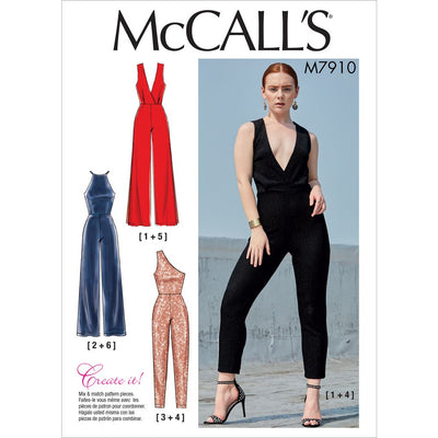 McCall's Pattern M7910 Misses Jumpsuits 7910 Image 1 From Patternsandplains.com