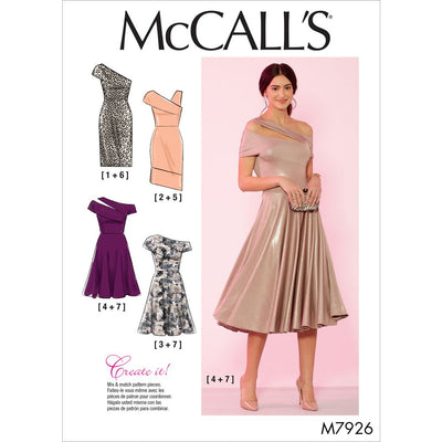 McCall's Pattern M7926 Misses and Womens Special Occasion Dresses 7926 Image 1 From Patternsandplains.com