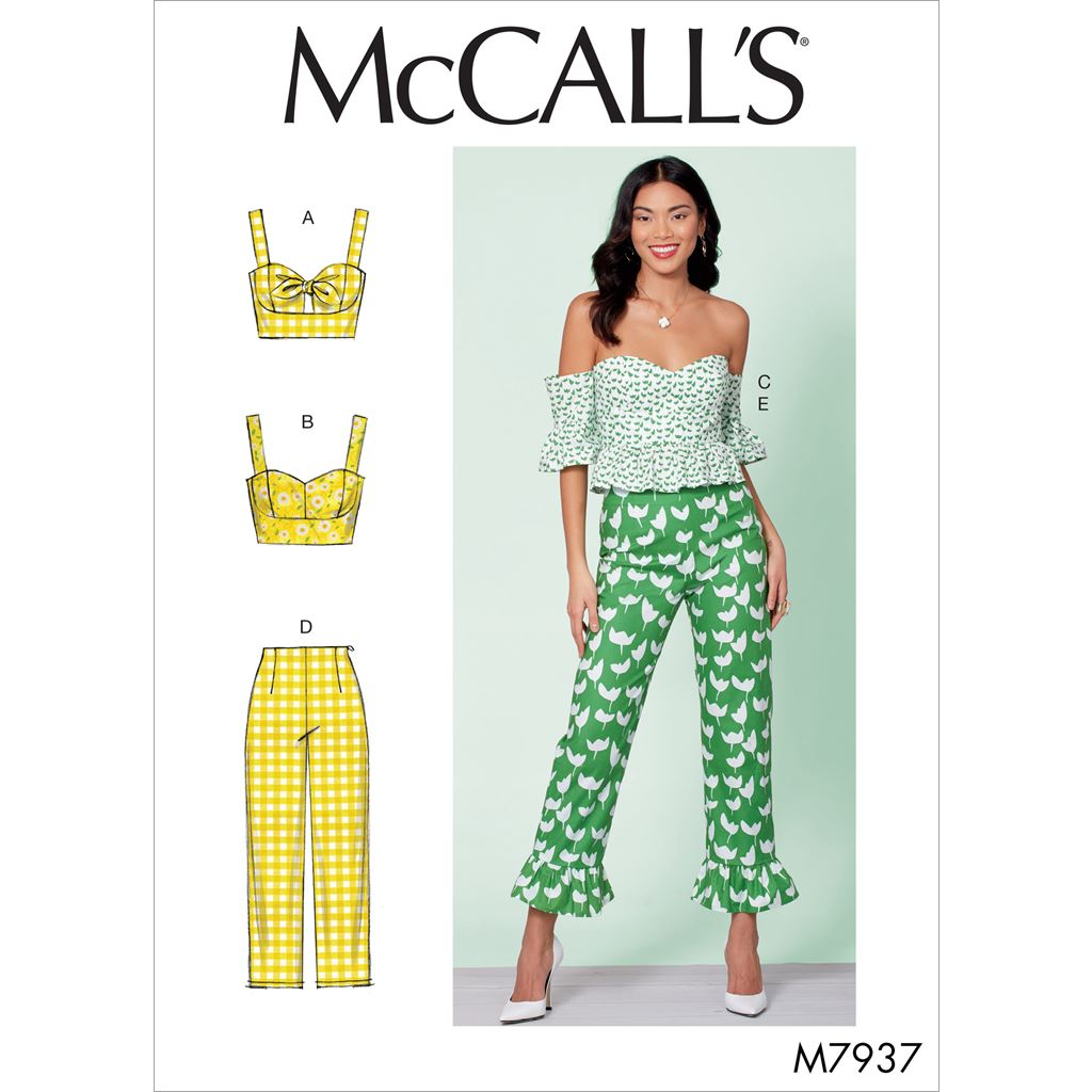 McCall's Pattern M7937 Misses Tops and Pants 7937 Image 1 From Patternsandplains.com
