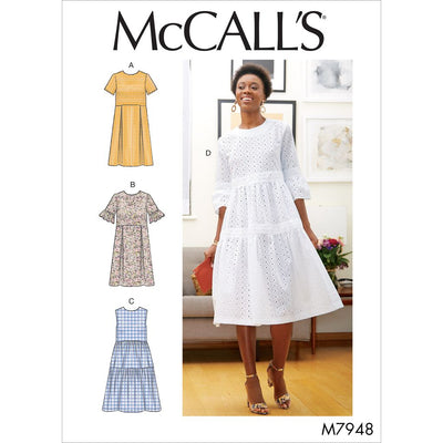 McCall's Pattern M7948 Misses Dresses 7948 Image 1 From Patternsandplains.com